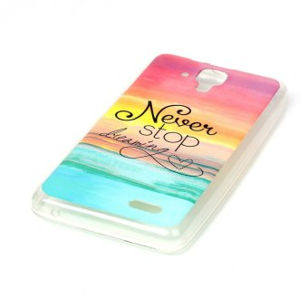 Soft IMD TPU Gel Case for Lenovo A536 - Quote Never Stop Dreaming Price Philippines