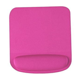 Soft Mouse Pad with Wrist Rest Support Pad Non-Slip ComfortableMouse Mat for Surfing and Gaming Rose Red - intl