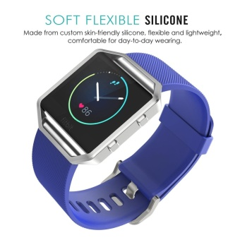 Soft Silicone Adjustable Replacement Sport Strap Band for FitbitBlaze Smart Fitness Watch - intl - 3