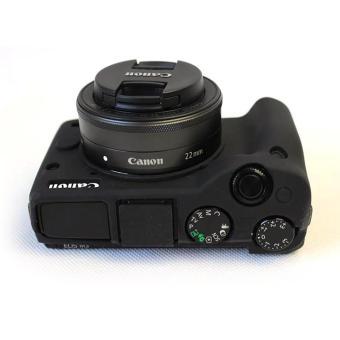 Soft Silicone Gel Rubber Camera Case Cover for Canon EOS M3(Black)- intl - 4