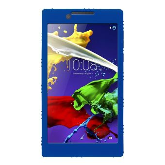 Soft Silicone Rubber Gel Skin Case Cover For Lenovo Tab 2 A7-30Tablet PC 7inchDark Blue - intl - 4