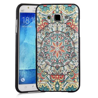 Soft TPU Case for Samsung Galaxy J7 (2015) Totem Flower 3D EmbossedPainting Series Protective Cover - 2