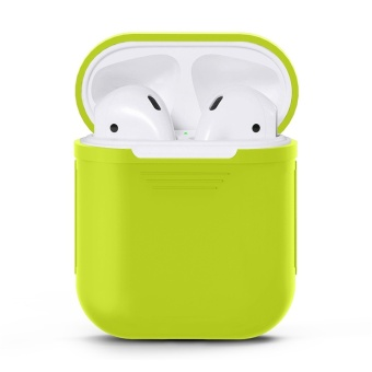 Soft TPU Silicone Case Cover for Apple Airpods Wireless HeadsetBags Boxes Sleeve Pouch for Air pods Earphone Charging Case - intl