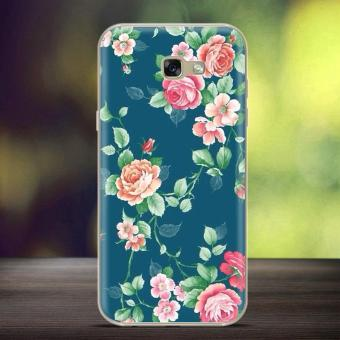Softlyfit Embossed TPU Phone Case for Samsung Galaxy A7 (2017) A720 - Blooming Roses - intl