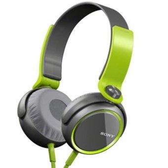 SON XB-400 Extra Bass Over-the-Ear Headphones (Black/Green)