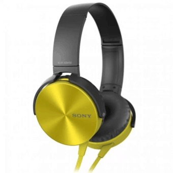 Sony MDR-XB450AP 102dB Extra Bass Smartphone Headset (Gold)