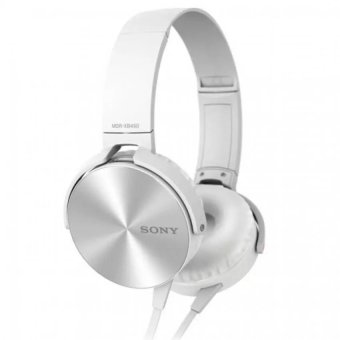 Sony Mdr-Xb450Ap 102Db Extra Bass Smartphone Headset (White) With Free Phone Ring Stand
