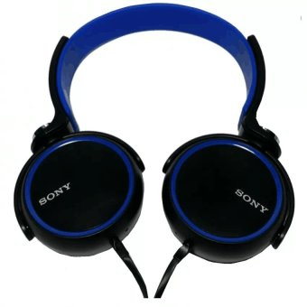Sony Xb400 108Db Stereo Subwoofer Headphone (Black/Blue) With Free Phone Ring Stand