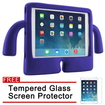 Speck Kids Products iGuy Protective Shockproof Case for Apple iPadMini 1 / 2 / 3 (Violet) with Free Tempered Glass Screen Protector