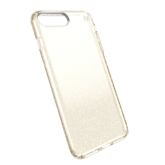 Speck Presidio Clear + Glitter Phone Case for iP7 Plus (GoldGlitter/Clear) - 2