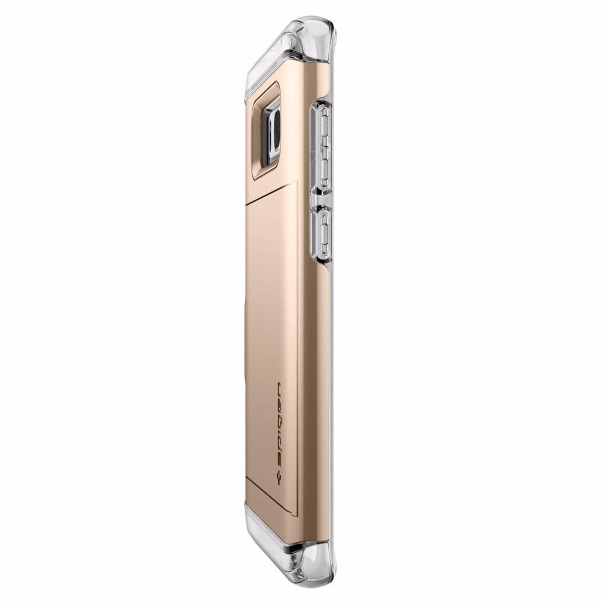 Spigen Premium Case For Samsung Galaxy S8 Plus Crystal Wallet 3 Liquid Original Clear Gold Maple
