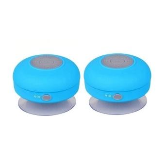 Splash Tunes Waterproof Bluetooth Speaker (Blue) Set of 2