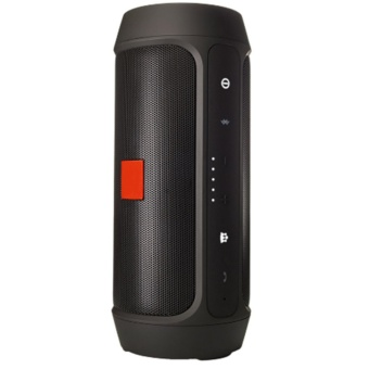 Splashproof Portable Wireless Bluetooth Speaker And Power Bank (Black) - 2