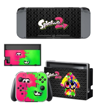 Splatoon 2 Design Vinyl Game Skin Sticker for Nintendo Switch NSConsole & joy-con Controller Skin Protective Stickers - intl
