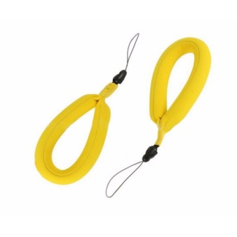 Sport Camera Floating Wrist Strap Foam for Underwater GoPro,Panasonic Lumix, Nikon COOLPIX S33 and Other Cameras(Bright Yellow)- intl - 3
