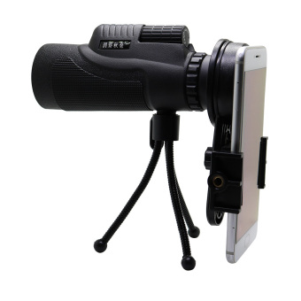 Sports Hiking Telescope 12x50 Monocular Camp Travel Telescope 12 Magnification for Cellphone Camera Lens with Tripod Universal Phone Stable Bracket - 3