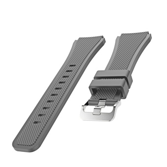 Sports Soft Silicone Replacement Watch Band Strap Watchband Wristband for Samsung Gear S3 Frontier Classic Gray - intl