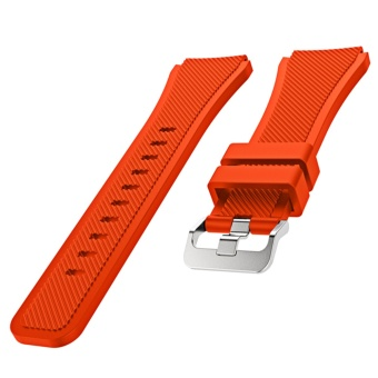 Sports Soft Silicone Replacement Watch Band Strap Watchband Wristband for Samsung Gear S3 Frontier Classic Orange - intl