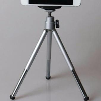 stainless steel Tripod Stretchable Tabletop Bracket Portable HolderSelfie Stick (Silver) - 3
