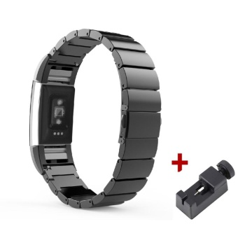 Stainless Steel Watchband For Fitbit Charge 2 HR Band BraceletStrap for Fitbit Charge 2 - intl