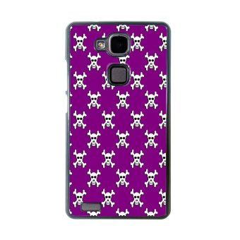 Sugar Skull Pattern Phone Case for Huawei Mate 7 (Black)
