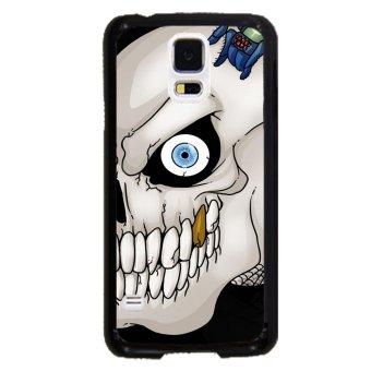 Sugar Skull Pattern Phone Case For Samsung Galaxy S5 (Black)