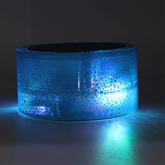 Super Bass Portable Bluetooth Wireless Speaker with Colorful LEDLight and Build-in Mic (Blue) Price Philippines