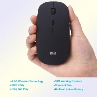 Super Slim Rechargeable 2.4G Wireless Mouse For PC And Laptop AndAndroid - intl - 5