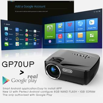 svoovs Android Smart WiFi Projector, GP70UP Wireless Mini LED Video Projector Support Smartphone Laptop TV Box DVD VGA Etc Miracast Airplay for Entertainment - 4