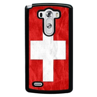 Switzerland Flag Pattern Phone Case for LG G3 (Red)