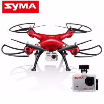Syma X8HG Headless Mode 2.4G 4CH 6Axis Remote Control Quadcopter(Red)
