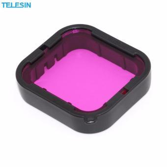 Telesin 2 Pcs Diving Camera Lens Filter Pack Red filter + Purplefilter + Storage Bag for GoPro hero5 Camera - 4
