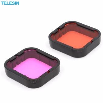 Telesin 2 Pcs Diving Camera Lens Filter Pack Red filter + Purplefilter + Storage Bag for GoPro hero5 Camera - 3