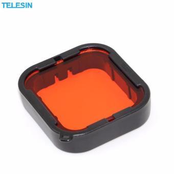 Telesin 2 Pcs Diving Camera Lens Filter Pack Red filter + Purplefilter + Storage Bag for GoPro hero5 Camera - 5