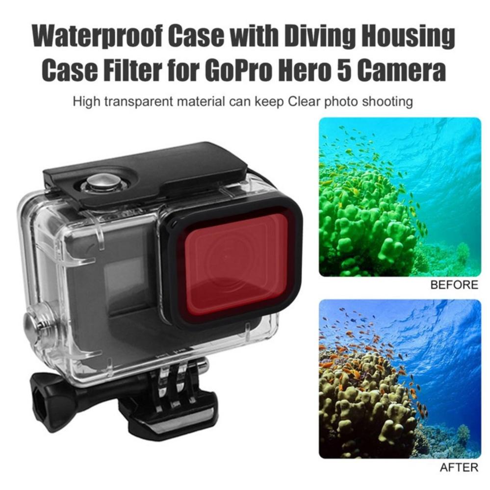 Telesin Filter Set 2 Pcs Lens Red Purple Storage Bag For