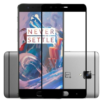 Tempered Glass 2.5D Curve Full Cover Screen Protector Film ForOnePlus 3 3T One Plus 3 3t 9H Premium Glass Film (Black) - intl