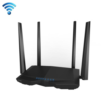 Tenda AC6 AC1200 Smart Dual-Band Wireless Router 5GHz 867Mbps +2.4GHz 300Mbps WiFi Router with 4*5dBi External Antennas(Black) -intl
