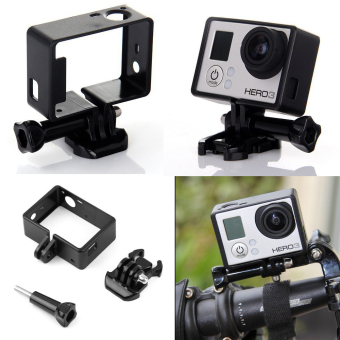 Teyeleec Frame Mount w/ Base for Go Pro Hero (Black) (Intl) - 2