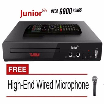 The Platinum Kool Sound Junior KS-5 DVD Karaoke Player (Black) Free High-End Dynamic Wired Microphone