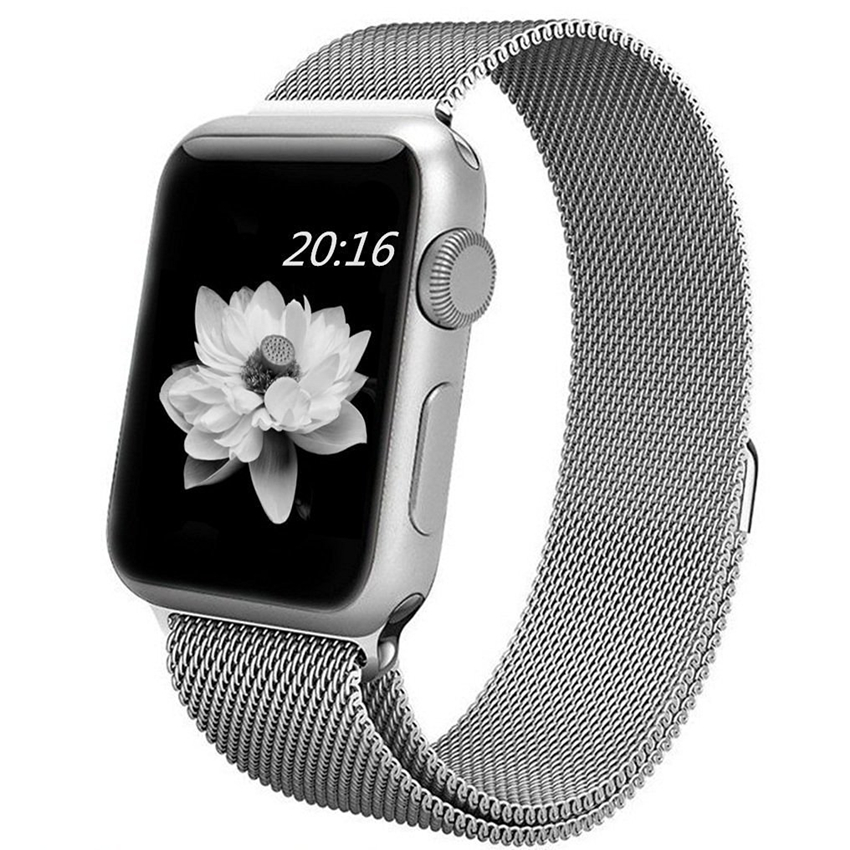 ... top4cus Milanese Magnetic Loop Stainless Steel Strap Watch Bands For Apple Watch iWatch Series 1 and ...