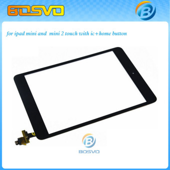 Touch screen for ipad mini or mini 2 digitizer glass lcd panel+home buttom with ic connector 1 piece free shipping+ 3M sticker -Intl - 4