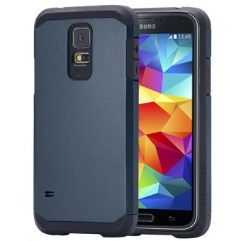 Tough Armor Plastic + TPU Combination Case for Samsung Galaxy S5 / G900 (Dark Blue)