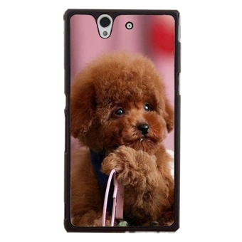 Toy Poodle Dog Pattern Phone Case for Sony Xperia Z L36H (Black)