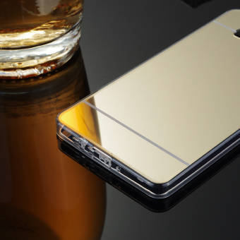 TPU Bumper Frame Mirror Effect PC Case Cover For Samsung Galaxy A5 (2015) (Silver) - intl - 5