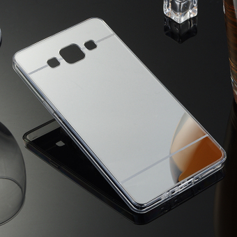 TPU Bumper Frame Mirror Effect PC Case Cover For Samsung Galaxy A5 (2015) (Silver) - intl - 3