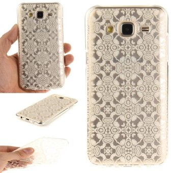TPU Flexible Soft Case for Samsung Galaxy J5 2015 (White Lace) -intl