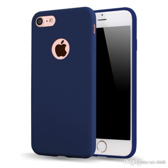 TPU Silicon Candy Style Soft Case Cover for Iphone 5s / Iphone SE(Navy Blue) with Free Phone Ring stand