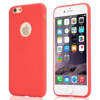 TPU Silicon Candy Style Soft Case Cover for Iphone 5s / Iphone SE(Red)