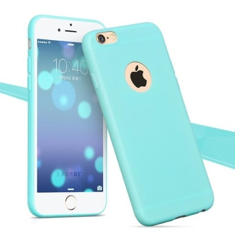 TPU Silicon Candy Style Soft Case Cover for Iphone 6 (Light Blue)
