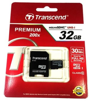 Transcend Class 10 32GB Micro SD Memory Card with Card Adapter